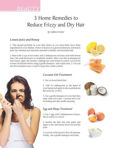 3 Home Remedies to Reduce Frizzy and Dry Hair