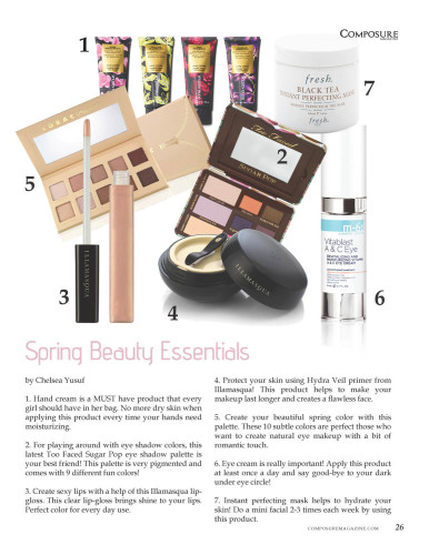 Spring Beauty Make Up Essentials