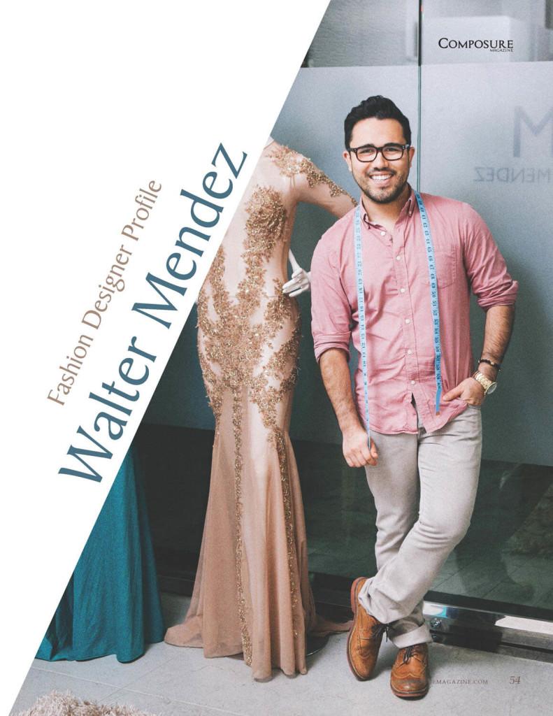 Fashion Designer Walter Mendez