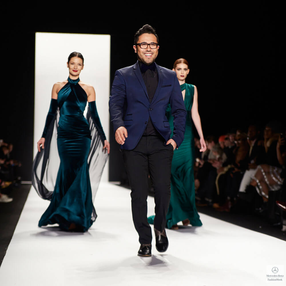 Fashion Designer Walter Mendez at NYFW15