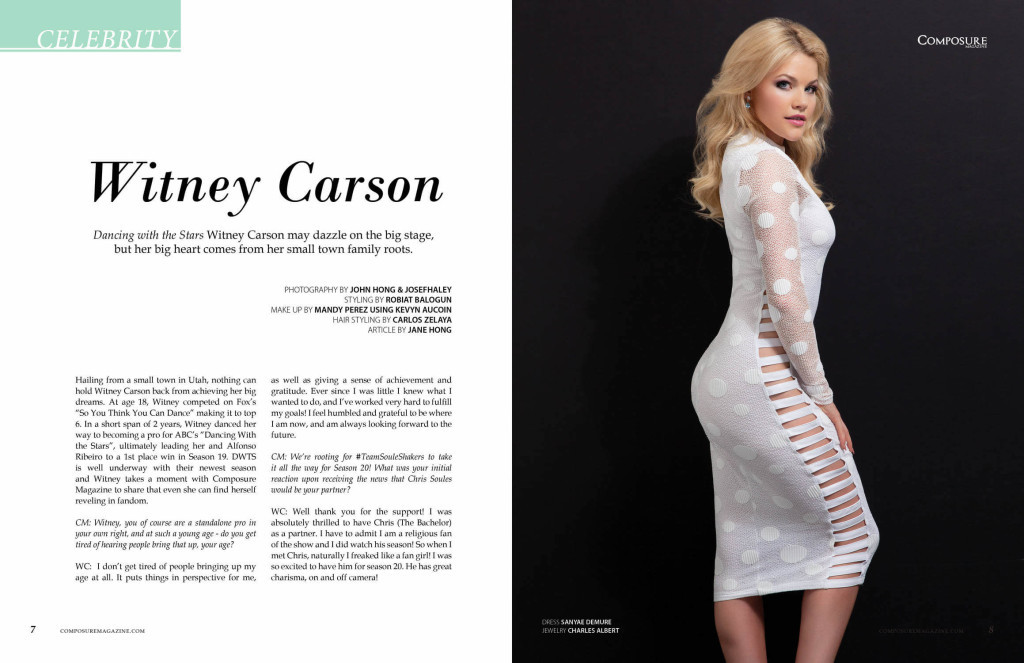 Witney Carson for Composure Magazine