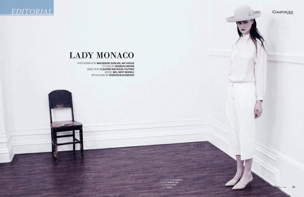 Fashion Editorial Lady Monaco  by Mackenzie Duncan for Composure Magazine