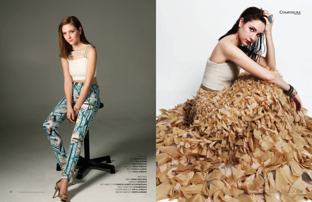 Actress Haley Ramm for Composure Magazine