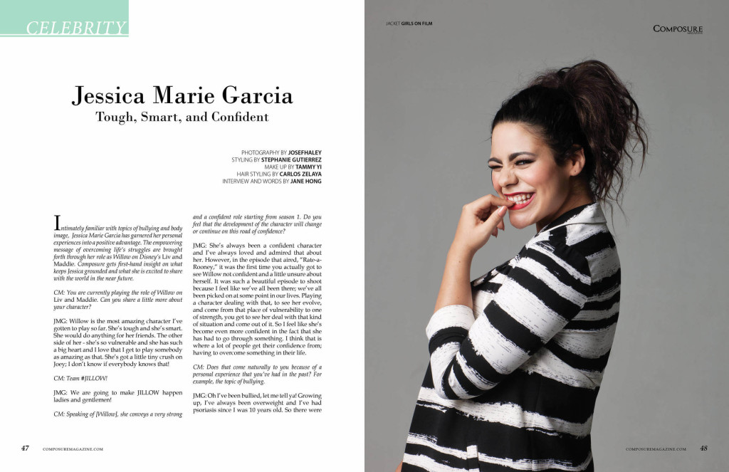 Actress Jessica Marie Garcia for Composure Magazine