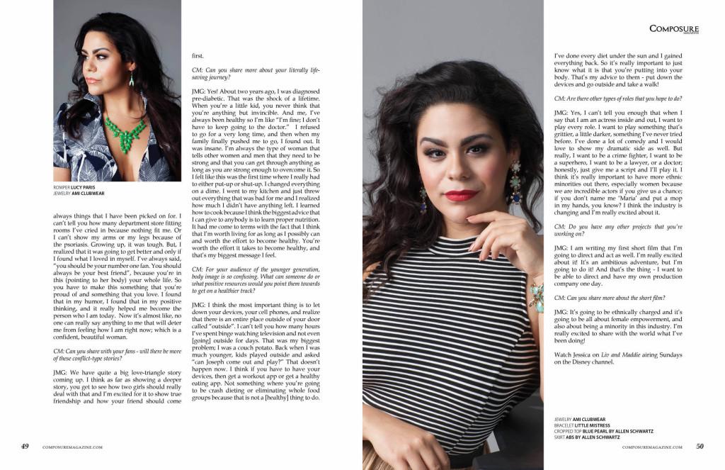 Actress Jessica Marie Garcia for Composure Magazine