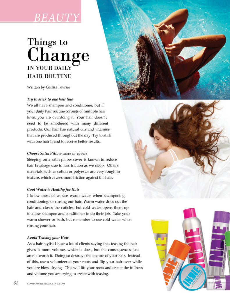 Beauty: Things to Change in Your Daily Hair Routine