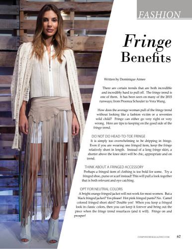 Fashion: Fringe Benefits