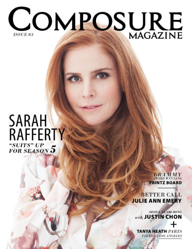Sarah Rafferty's magazine cover