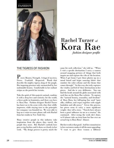 Fashion Designer Rachel Turzer of Kora Rae