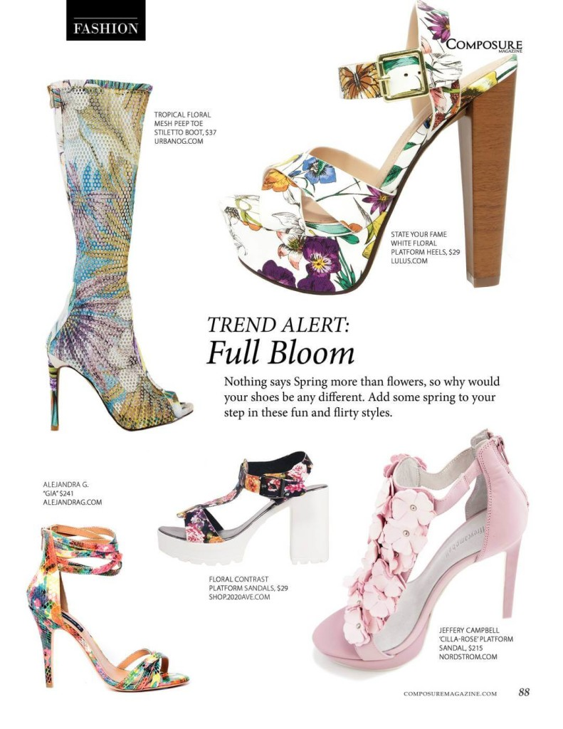 Trend Alert: Full Bloom  Nothing says Spring more than flowers, so why would your shoes be any different. Add some spring to your step in these fun and flirty styles.