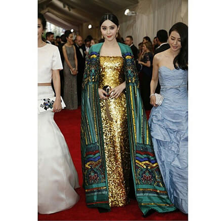 Fan Bingbing wears Christopher BU for The Met Gala 2015
