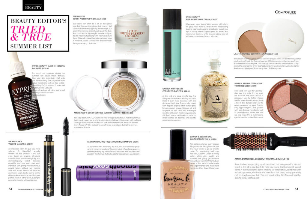 BEAUTY EDITOR'S TRIED AND TRUE SUMMER LIST