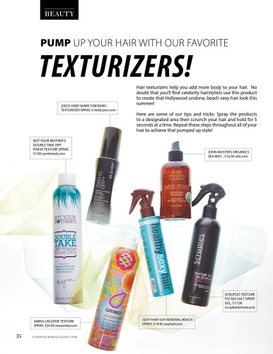 Pump up your hair with our favorite TEXTURIZERS!