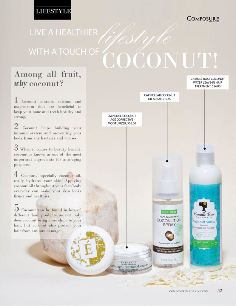 Live a healthier lifestyle with a touch of Coconut!