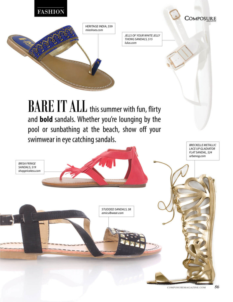 Fun, Flirty and Bold Sandals