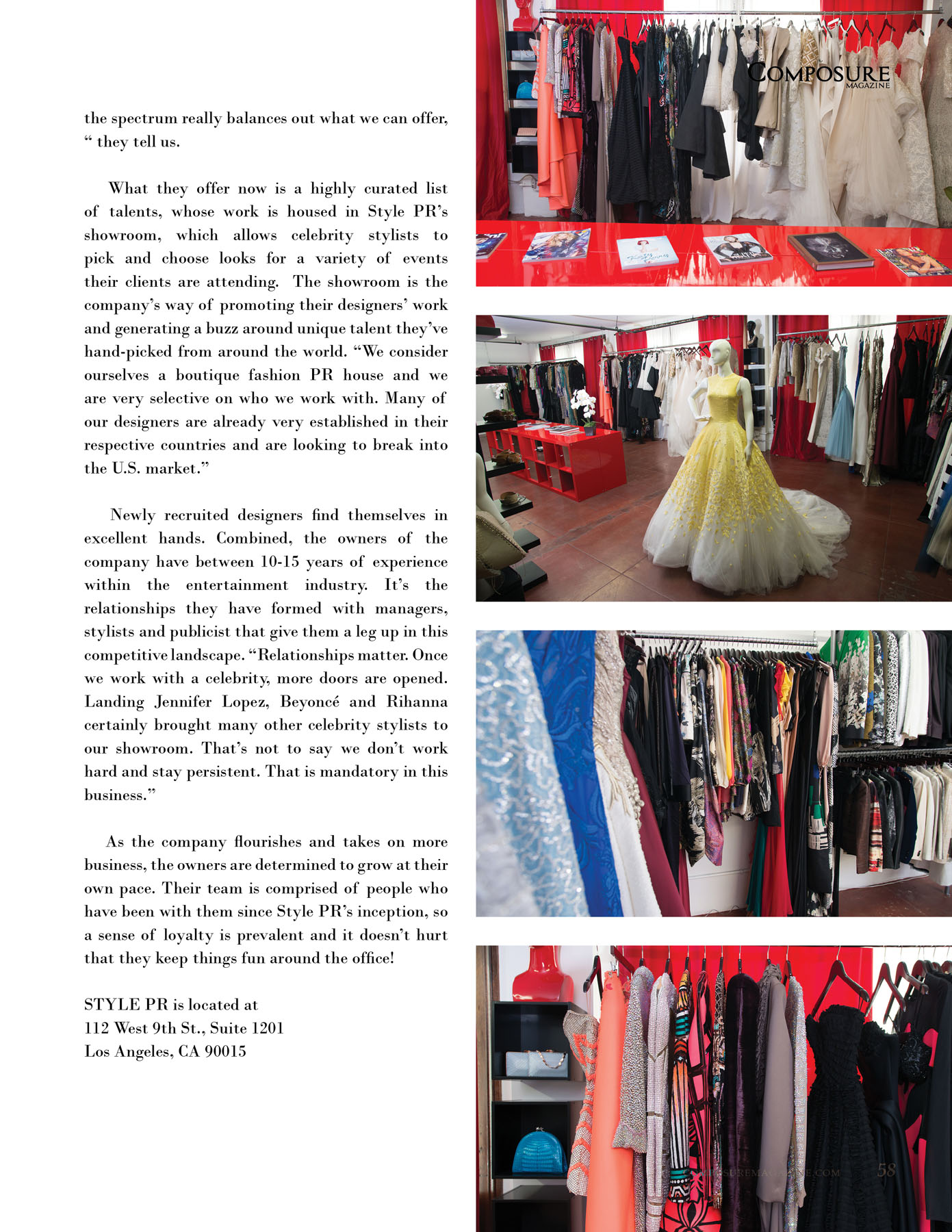 Style PR Los Angeles Fashion Showroom