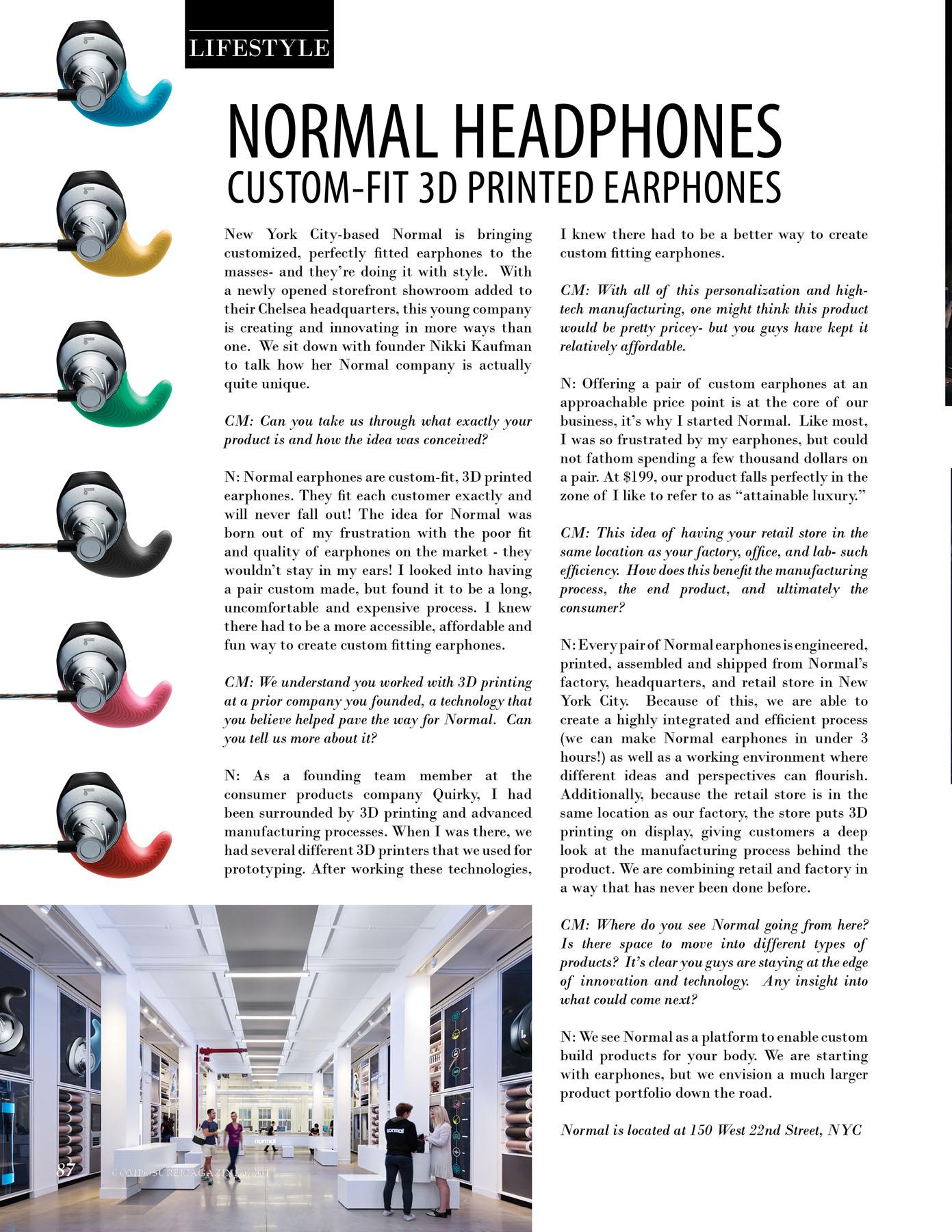 Normal Headphone's custom-fit 3D printed earphones.