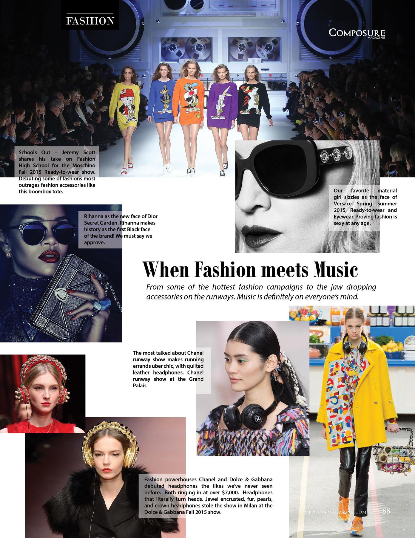 When Fashion Meets Music