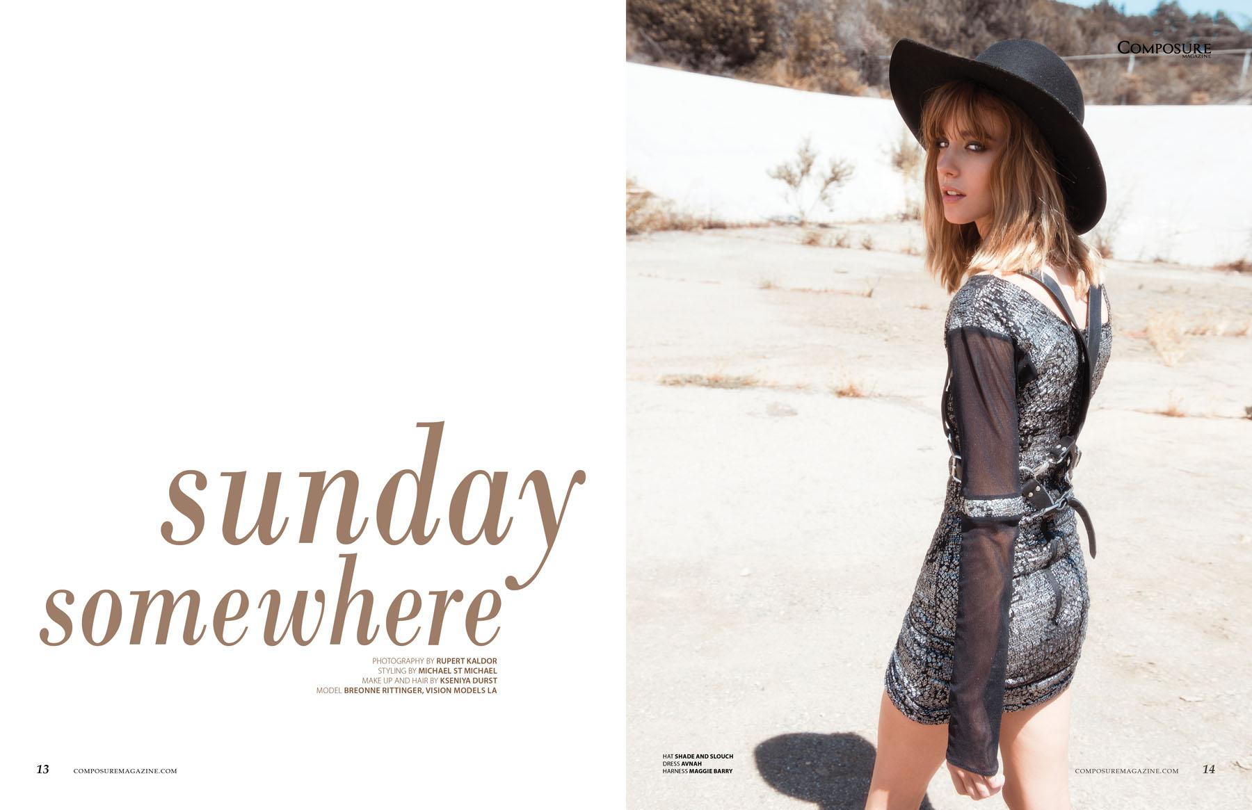 Fashion Editorial Sunday Somewhere Composure Magazine