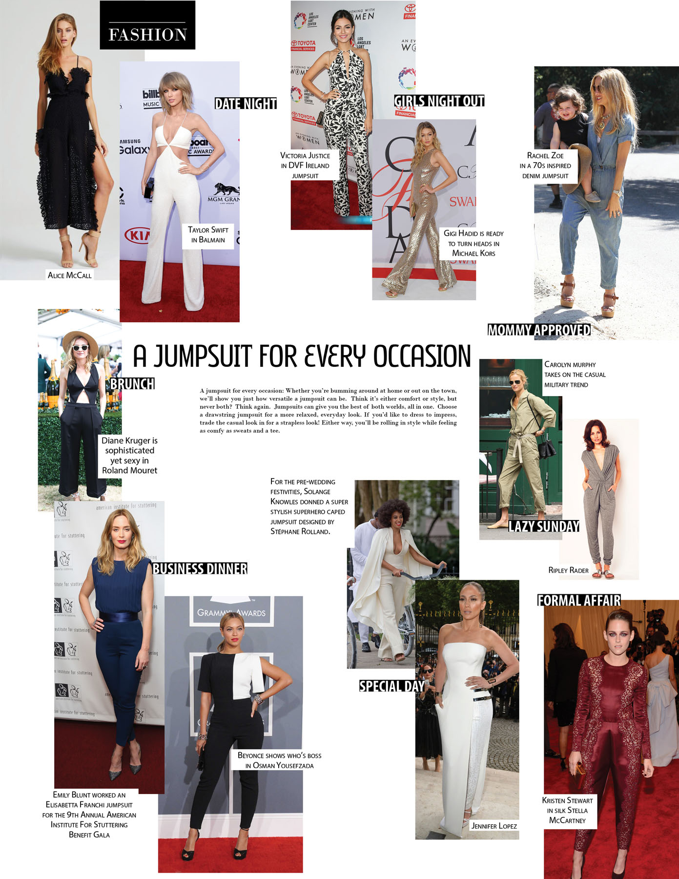 A JUMPSUIT FOR EVERY OCCASION