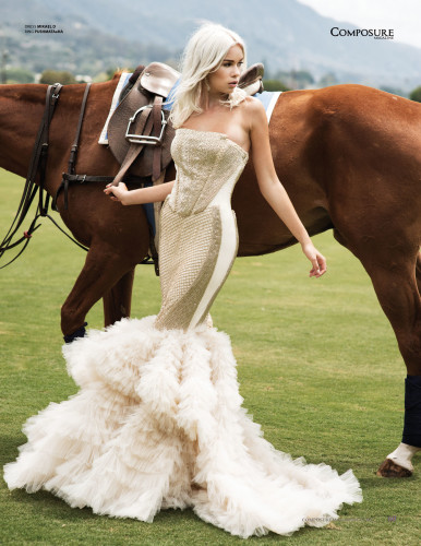 Fashion Editorial photographed at the Santa Barbara Polo Club by John Hong and Josefhaley