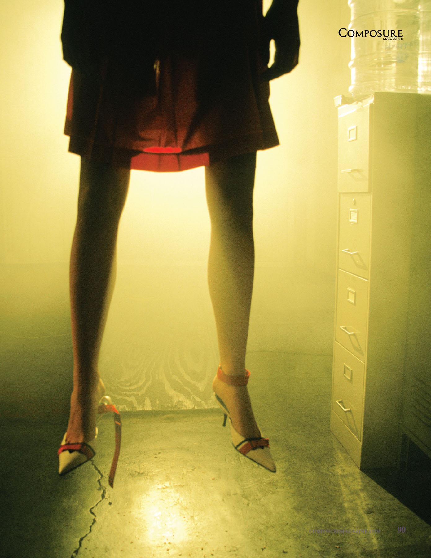 """Fashion editorial """"High Fashion Crime Scenes"""" by Melanie Pullen"""