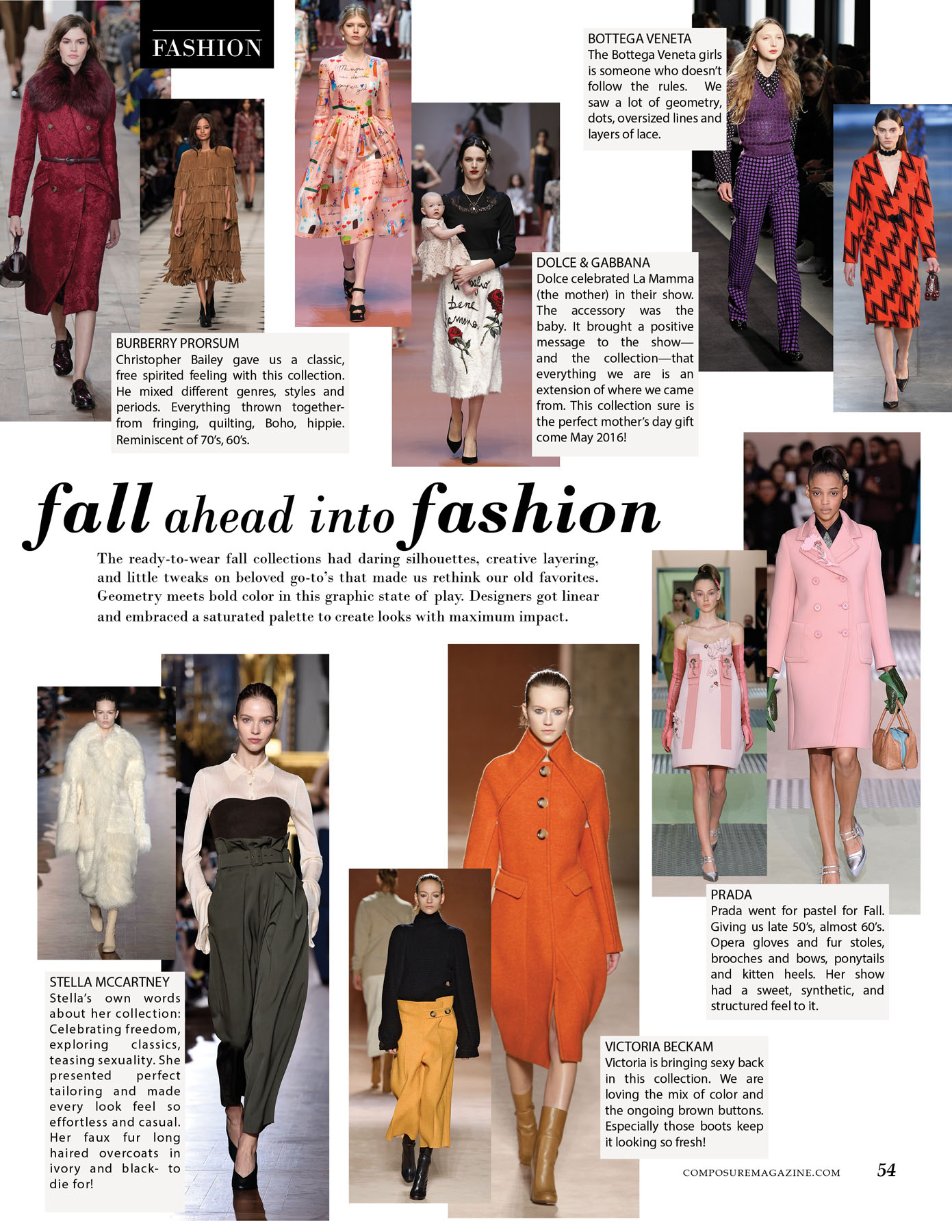 Fall ahead into fashion.