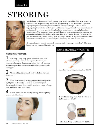 Strobing all-natural contouring