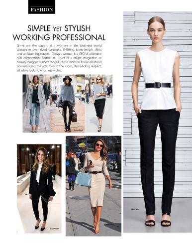 Simple yet Stylish Working Professional