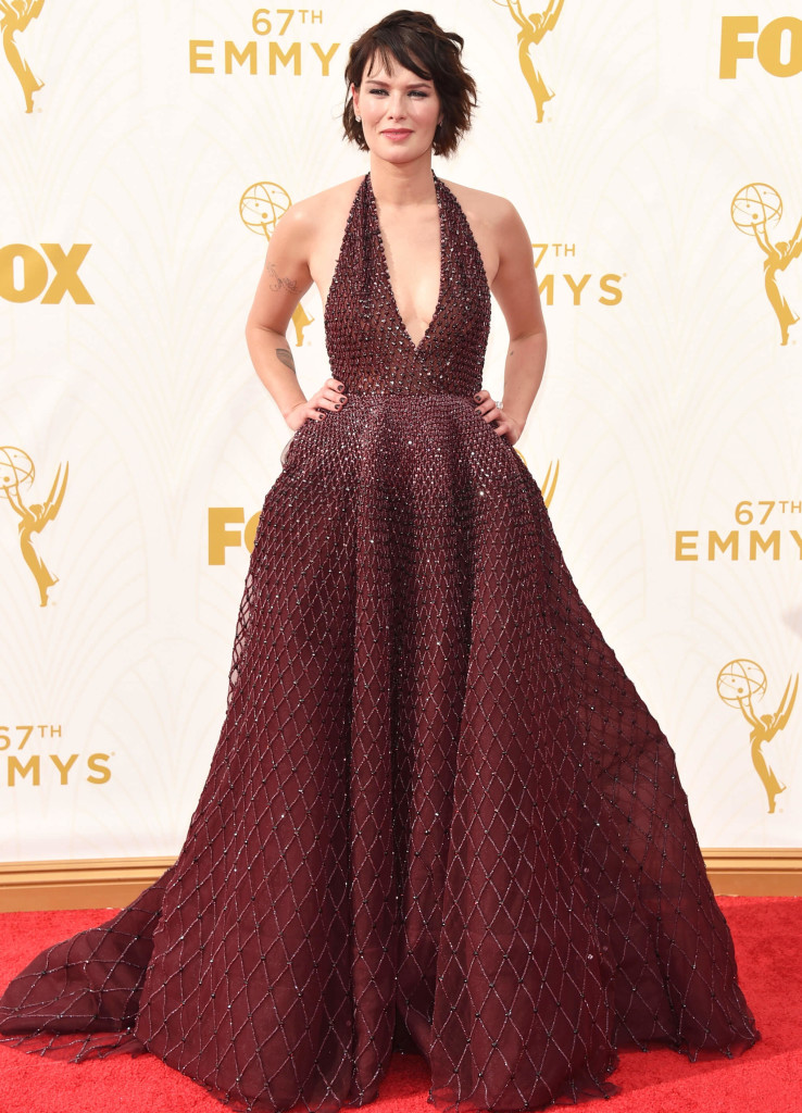 Lena Headly 2015 Emmys red carpet