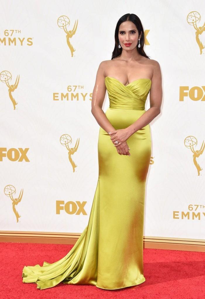 Padma Lakshim 2015 Emmys red carpet