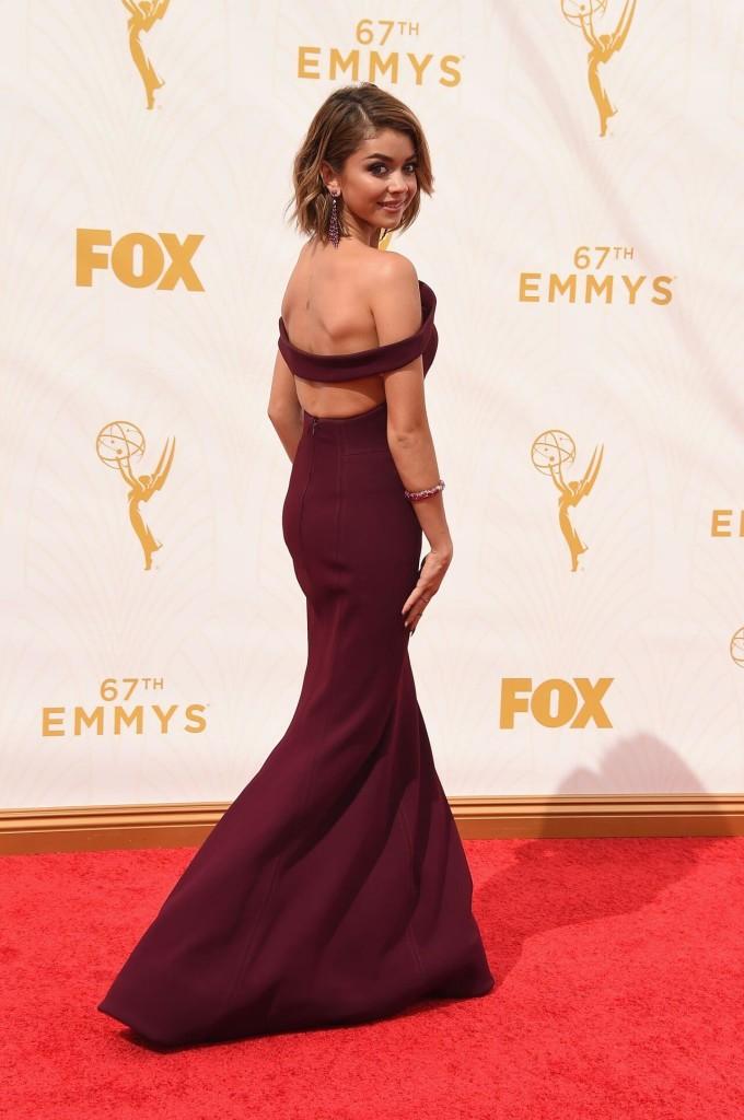 Sarah Hyland 2015 Emmys red carpet