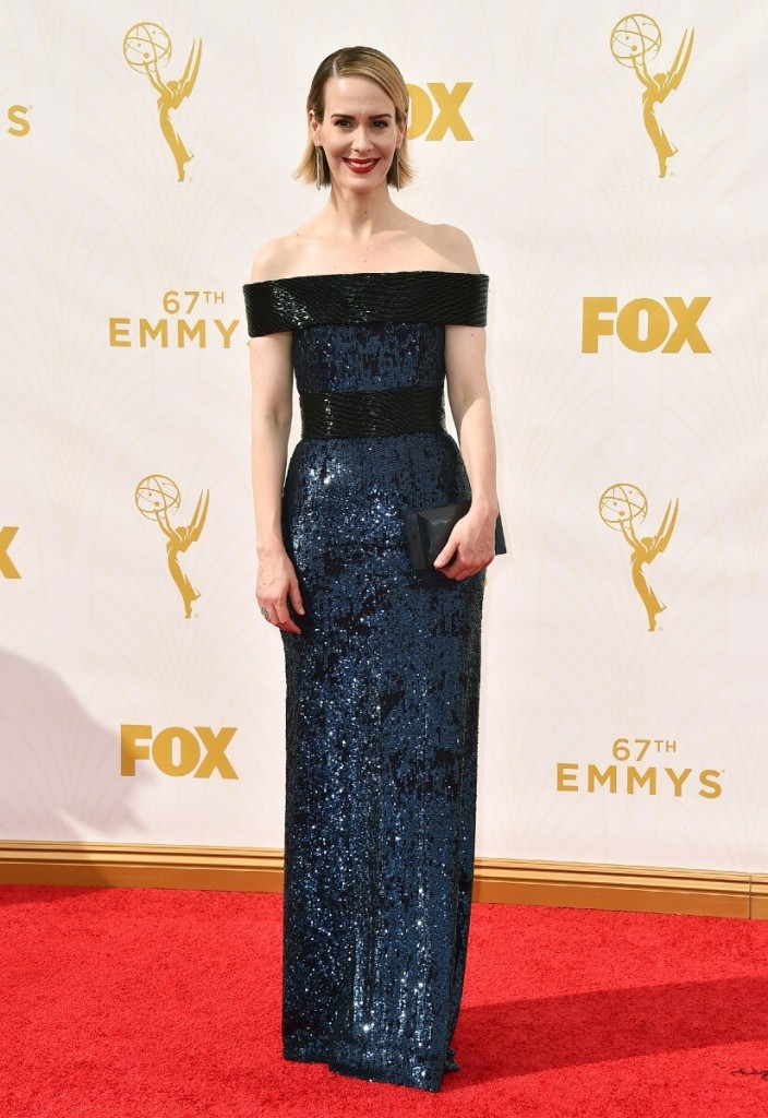 SarahPaulson 2015 Emmys red carpet