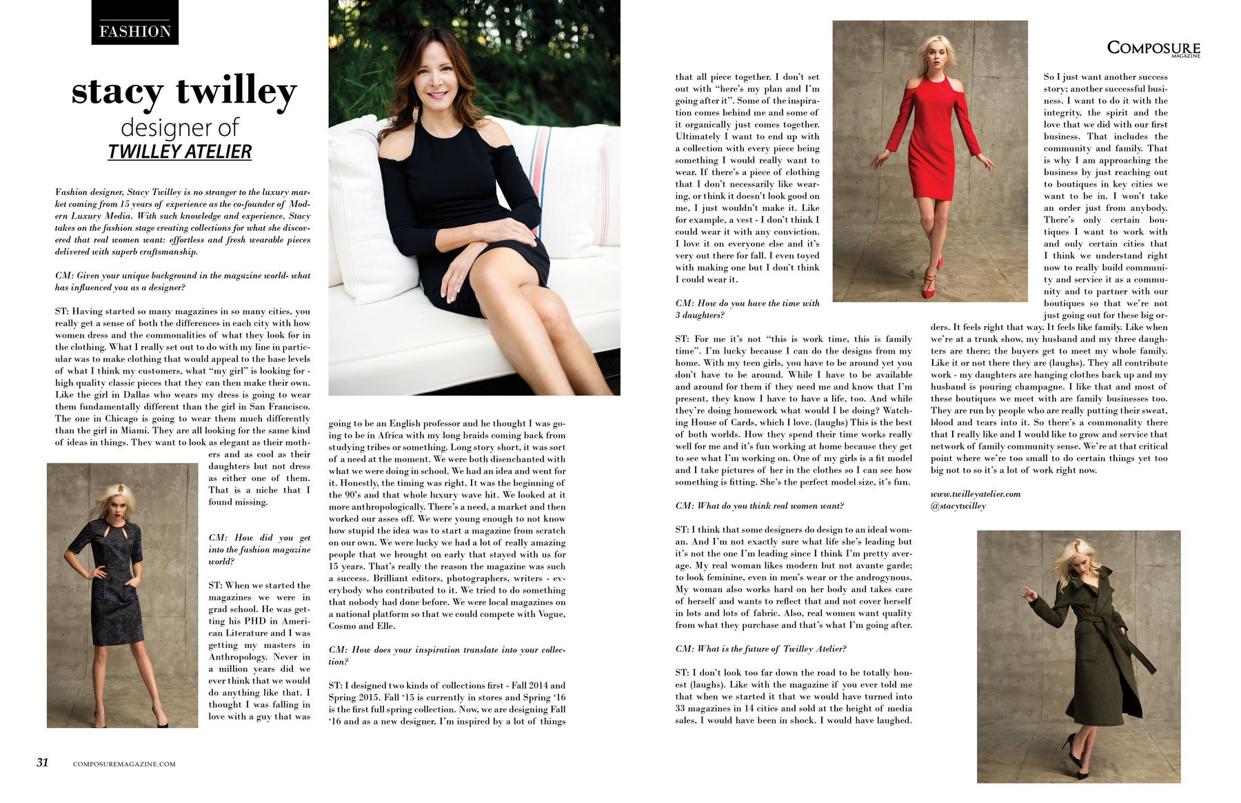 Interview with fashion designer Stacy Twilley of TWILLEY ATELIER