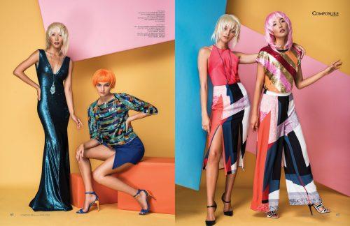 """Fashion editorial """"Block Party"""" by John Hong and Adrian Rabago."""