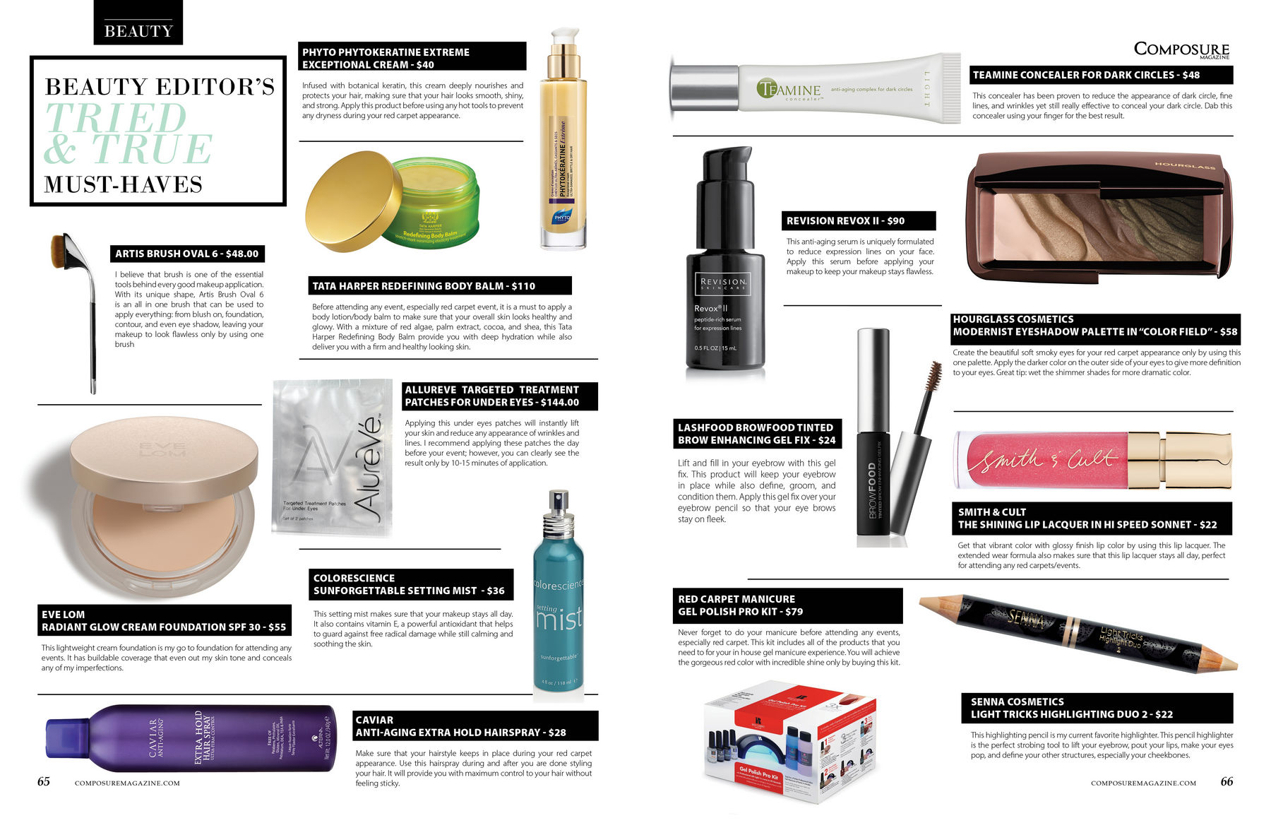 Beauty Editor's Tried and True Must Have's product and reviews