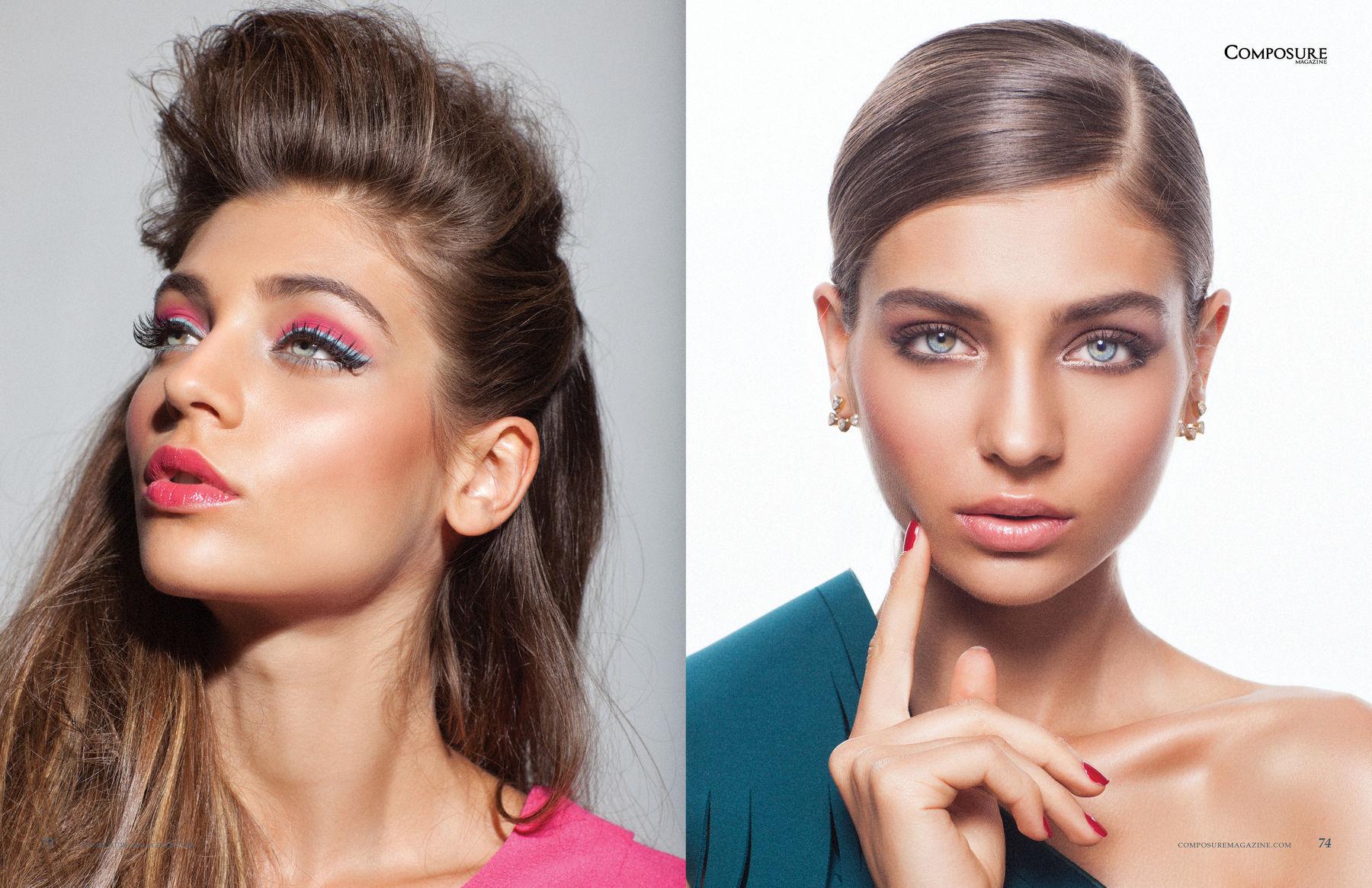 Decades of make up beauty editorial by John and Jane Hong