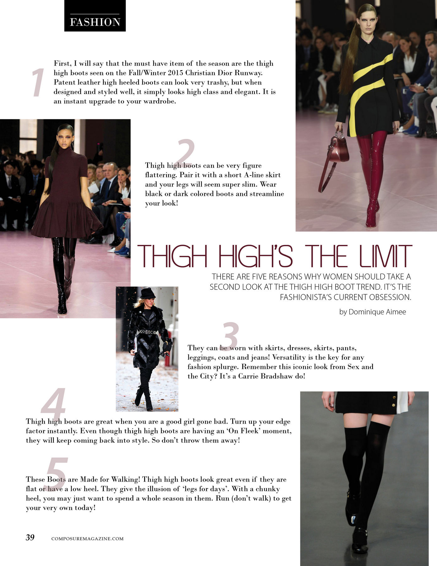Fashion Advice: Thigh High's The Limit