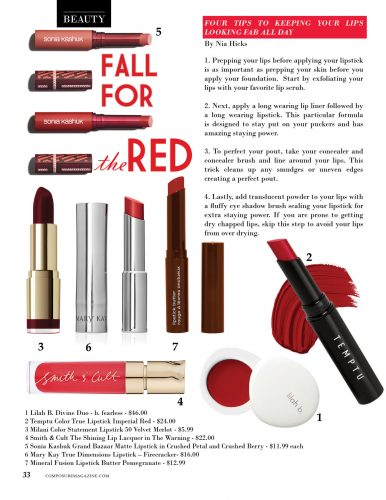 Beauty: Fall For the Red