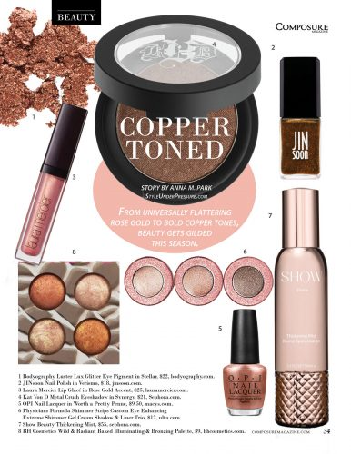 Beauty Tips: Copper Toned by Anna M. Park