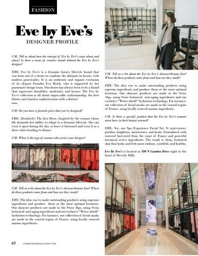 Fashion Designer Profile: Eve by Eve's