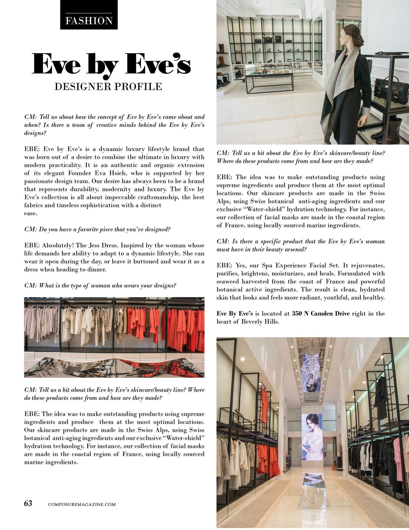 Fashion Designer Profile: Eve by Eve's