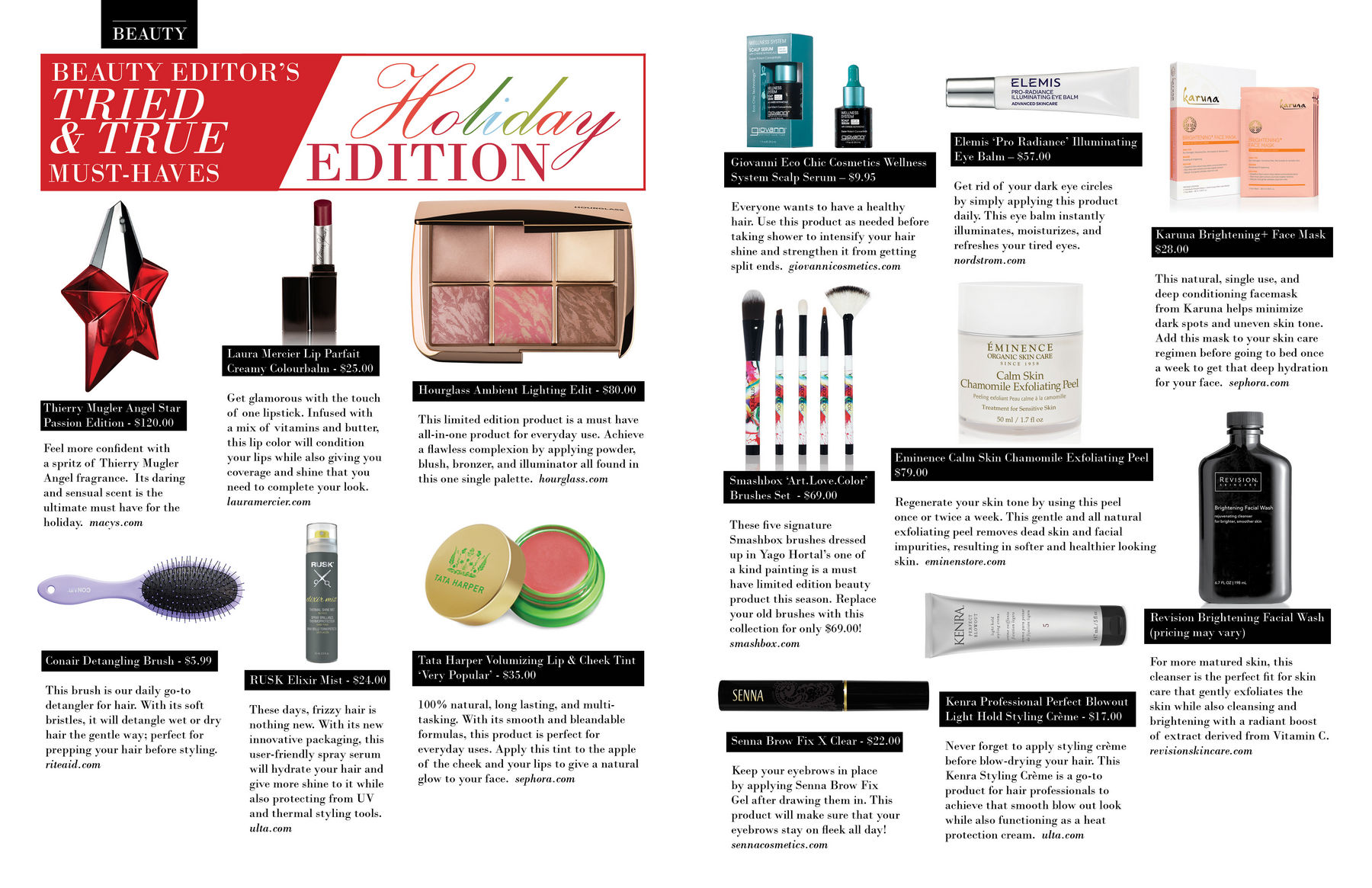 BEAUTY EDITOR'S TRIED & TRUE: Holiday Edition