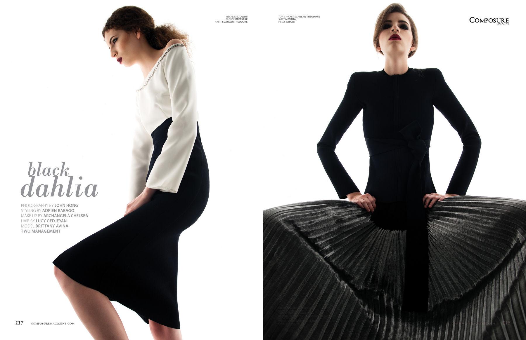 Fashion editorial quot black dahlia quot by john hong