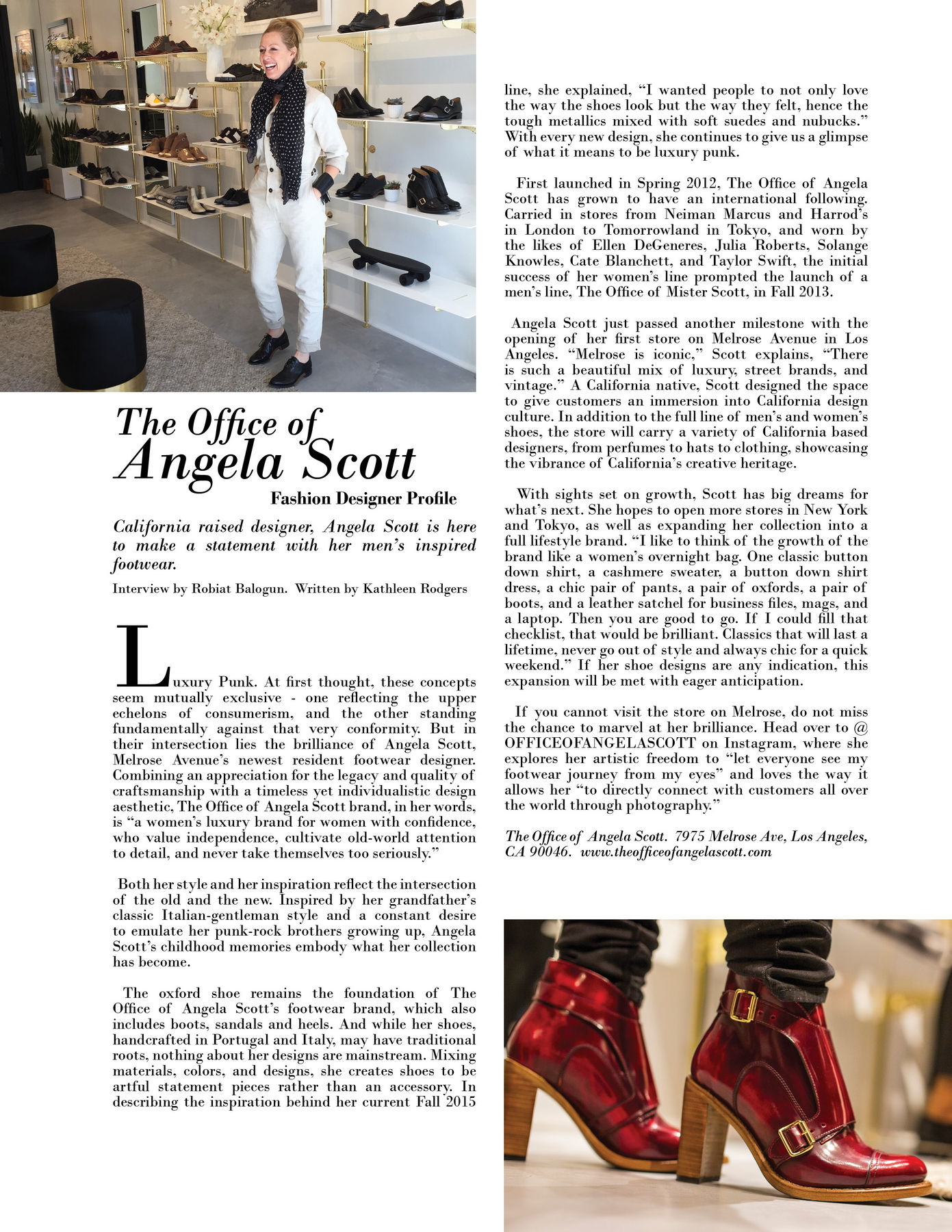 Fashion Designer Profile: The Office of Angela Scott