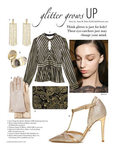 Glitter Grows Up - a fashion beauty story
