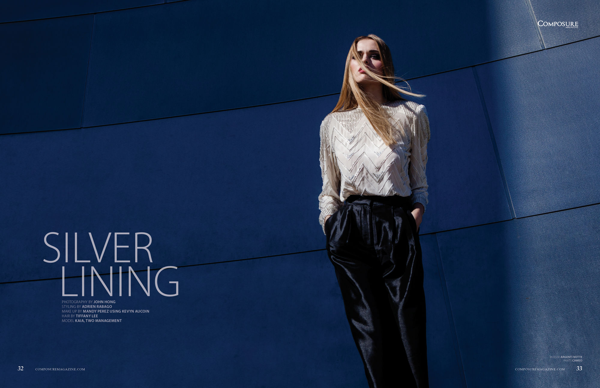 "Fashion Editorial ""Silver Lining"" photographed by John Hong and styled by Adrien Rabago."