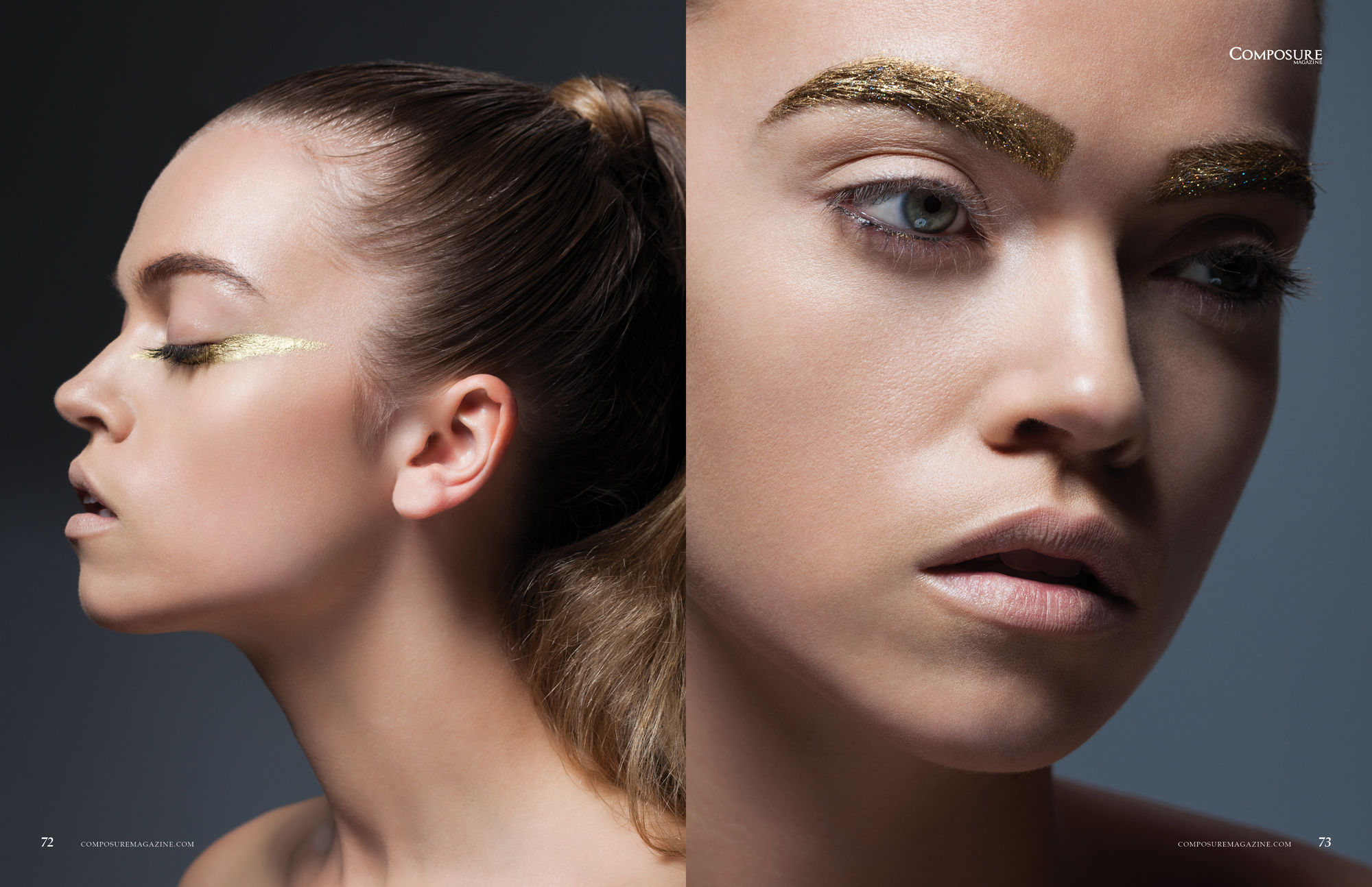 "Beauty Editorial ""Gold Wonder"""