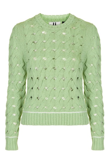 couture inspired greens st patricks day Topshop Unique Ixworth Crew Jumper, $180, Topshop.com