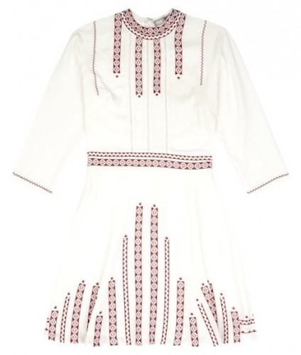 asos badlands embroidered dress